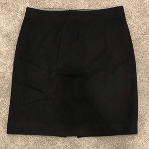 J CREW Wool Pencil Skirt Black size 12